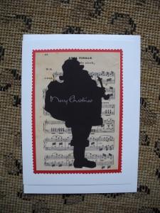 Music Sheet Silhouette Santa