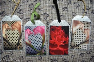 Heart Themed Galvanized Ornaments