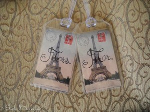 Mr & Mrs Luggage Tags, with a French twist!