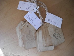 "Antique Look ""Love"" Tags"