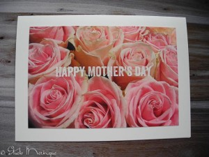 Flower market Roses, Mother's Day card