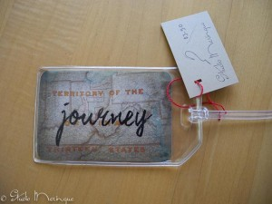 Journey Luggage Tag. Photo of an 1800's map hanging in the Albany Fire Department Museum!