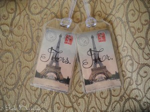 His and Her Luggage Tags. Make a nice Wedding Gift tie-on.